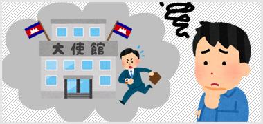 カンボジア大使館に出向いてビザ取得